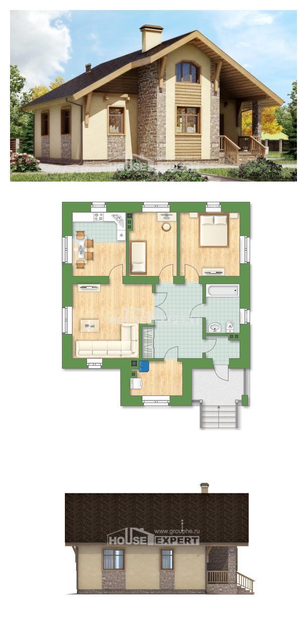 Проект дома 080-002-П   House Expert